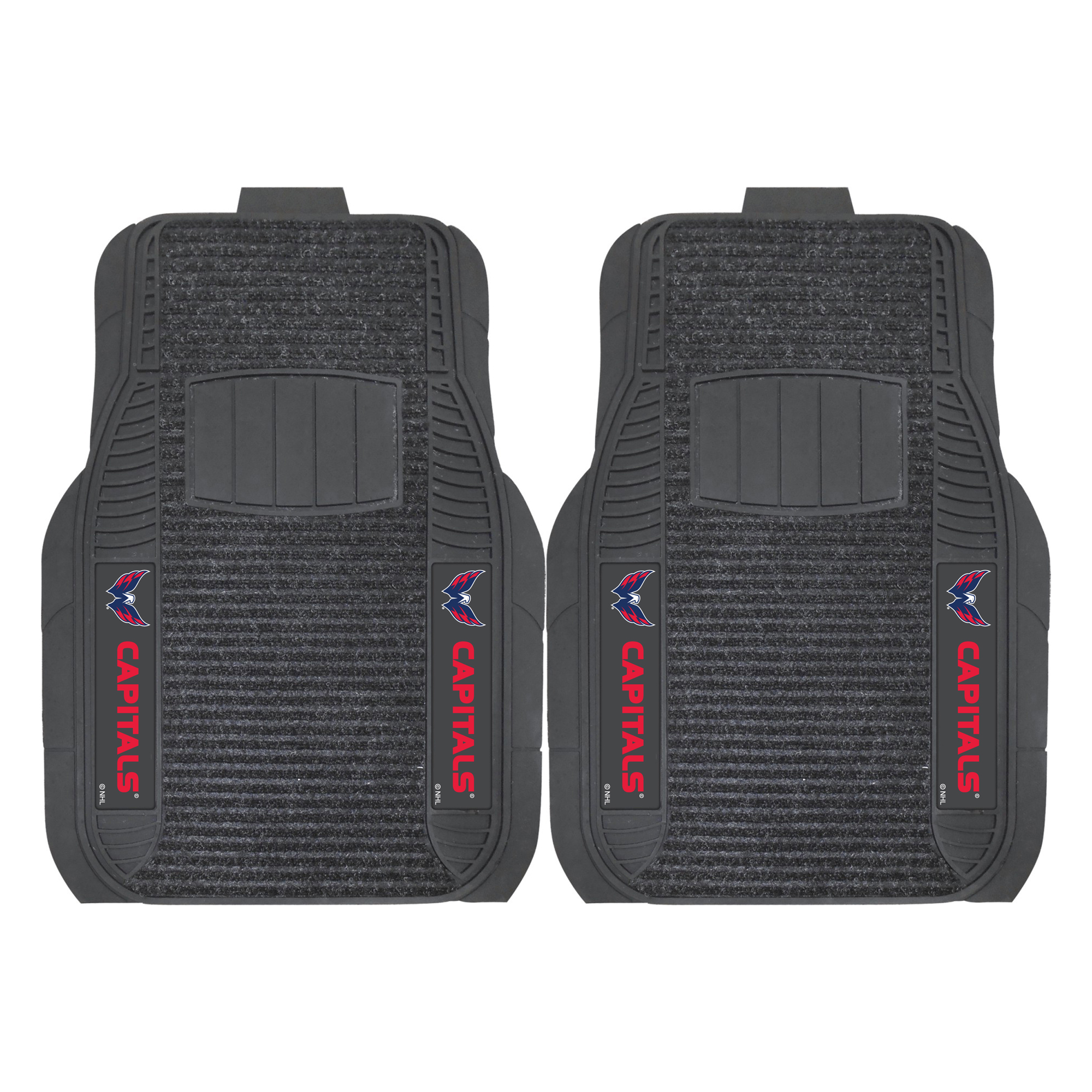 NHL Washington Capitals 2-PC Deluxe Front Car Mat Set, Universal Size