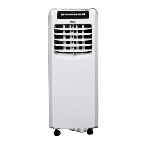 Haier 10,000 BTU 115-Volt Portable Air Conditioner with Remote, White, Factory Reconditioned