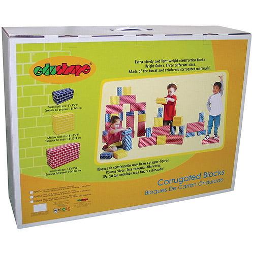 Edushape Corrugated Blocks, 52-Piece