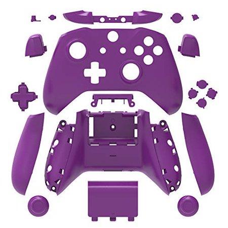 Bb Shell Set - SN-RIGGOR Replacement Housing Full Shell Set Full Buttons Set Faceplates ABXY Buttons RB LB Bumpers for Xbox One S Slim Contr