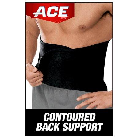 ACE Brand Contoured Back Support, Adjustable Compression, Low-Profile Brace
