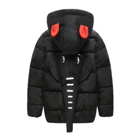 1fc03f2e44a0 Kids Baby Girl Boy Winter Hooded Coat Cloak Jacket Thick Warm ...