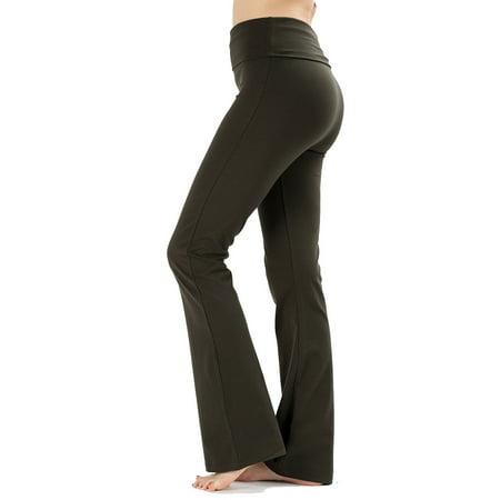 JED FASHION - JED FASHION Women's Ultra Stretchy Fold-Over Waist Yoga Pants  - Walmart com