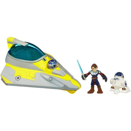 - Star Wars Jedi Force Playskool Heroes Anakin Skywalker's Jedi Starfighter With R2-D2
