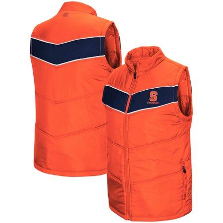 Syracuse Orange Colosseum Red Beaulieu Puff Full-Zip Vest - Orange