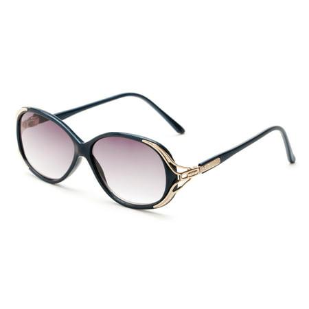 e91007e802 Readers.com The Alexandra Sun Reader +2.50 Navy Blue Womens Round Reading  Sunglasses - Walmart.com