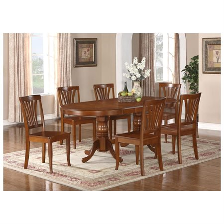 plav7 sbr w 7 piece dining table set for 6 dining room table and 6
