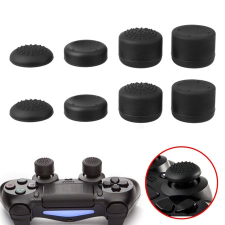8pcs Black Silicone Thumb Stick Grip Cover Caps For PS4 & Xbox One (Best Xbox One Grips)