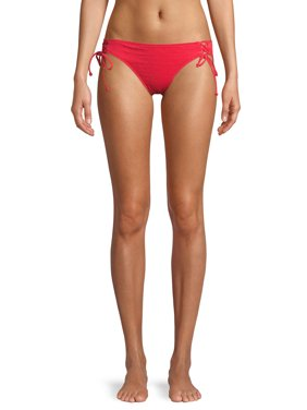 No Boundaries Juniors' Smocked Swimsuit Bottom