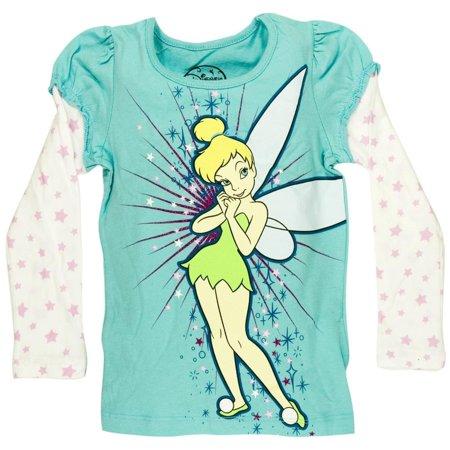 Tinkerbell - Pixie Tink Girls Juvy 2fer Long Sleeve - Tinker Girls