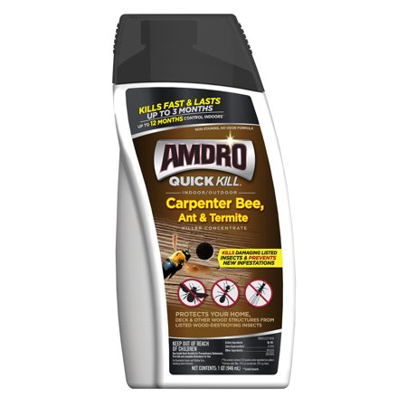 Amdro Ant Block - Amdro Quick Kill Indoor and Outdoor Carpenter Bees, Ant and Termite Killer Concentrate; 32 ounces