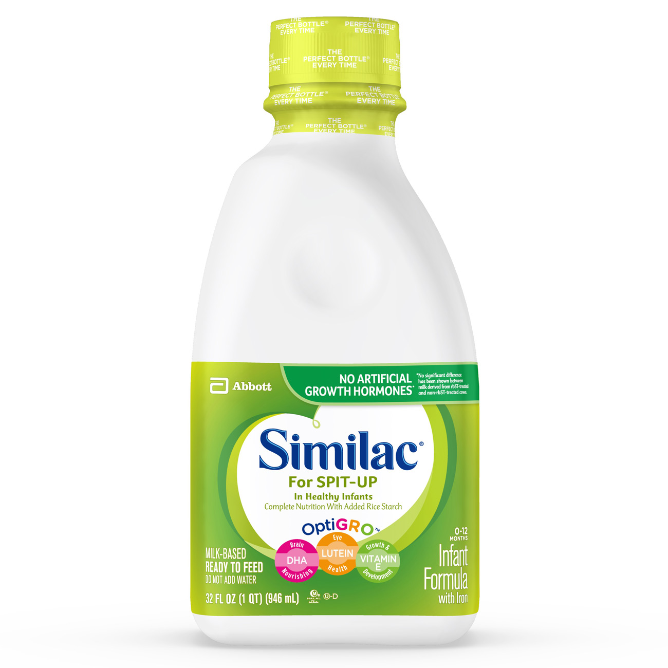 Similac For Spit-Up NON-GMO Infant Formula with Iron, Ready-to-Feed, 1 qt
