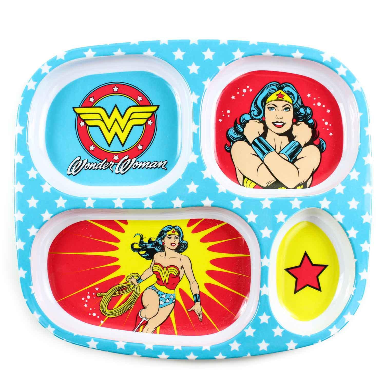 Bumkins DC Comics Melamine Plate, Wonder Woman by Bumkins