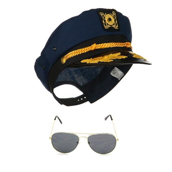 Nicky Bigs Novelties - Yacht Skipper Boat Captain Hat Sailor Ship ... b97bac011deb