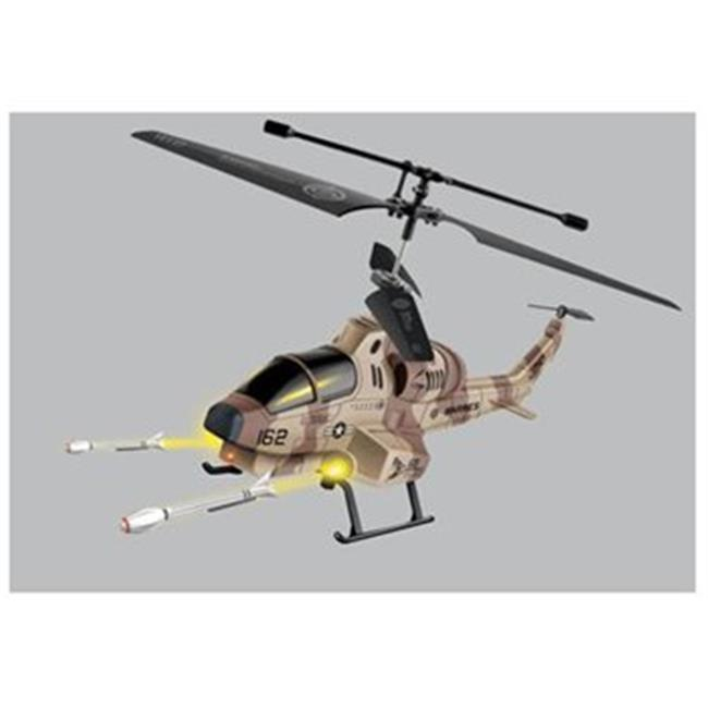 Microgear EC10220-Brown Remote Control Rc Shark Shooter 3. 5 Channel Gyro Helicopter Brown by Microgear