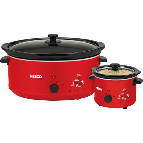 Nesco Slow Cooker Combo Set, Red