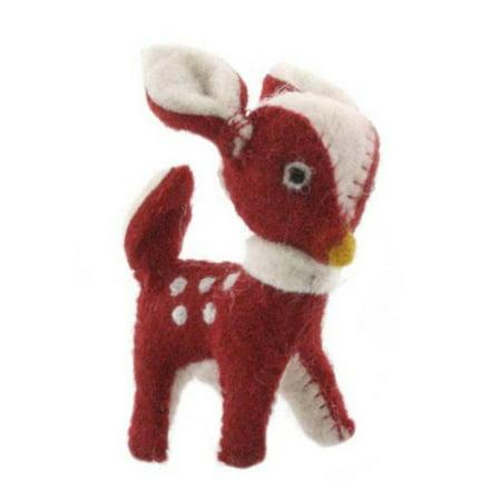 Felt Christmas Deer Ornament