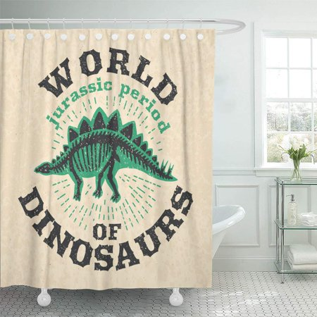 Big Boned Skeleton (CYNLON Vintage of Fossil Bones Dinosaur Big Skeleton World Dinosaurus Bathroom Decor Bath Shower Curtain 66x72)