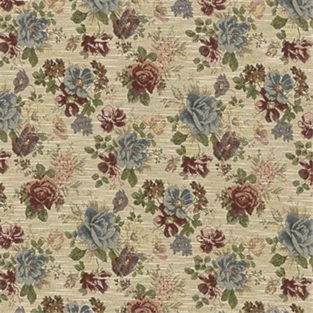 Designer Fabrics F900 54 in. Wide Green, Red And Blue, Floral Tapestry Upholstery -