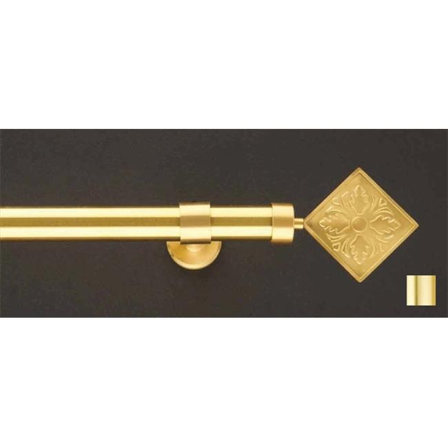 WinarT USA 8. 1140. 25. 03. 200 Liber 1140 Curtain Rod Set - 1 inch - Matte Brass - 78 inch