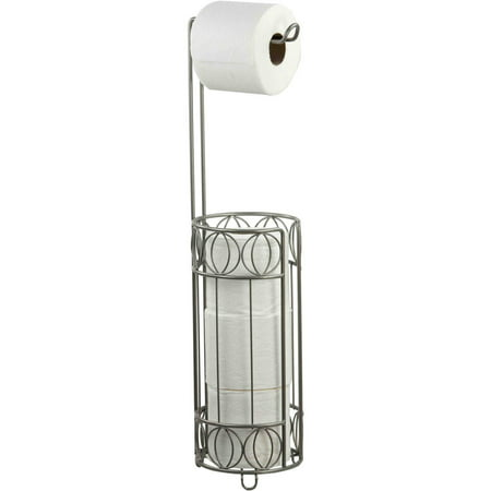 Home Basics Satin Nickel Seville Toilet Paper Holder - Golf Toilet Paper Holder