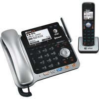 AT&T, ATTTL86109, Dect 6.0 2-line Telephone System with Handset, 1, Black,Silver