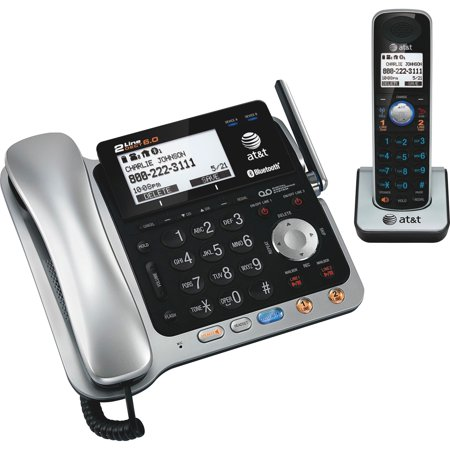 AT&T, ATTTL86109, Dect 6.0 2-line Telephone System with Handset, 1,