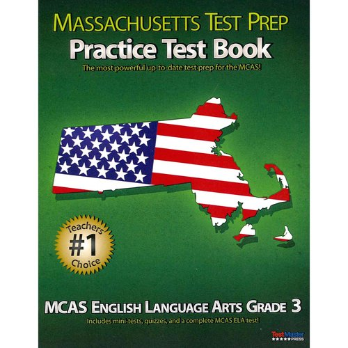 Massachusetts Test Prep Practice Test Book Mcas English Language Arts, Grade 3