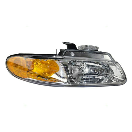 - Passengers Headlight Headlamp Replacement for Dodge Chrysler Plymouth Van without Quad Lamps 4857040AB, Meets all OE specifications, with DOT stamp By AUTOANDART from USA