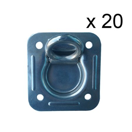 (20 pcs) Stainless Steel Recessed Floor Ring Working Load Limit: 1,666 lbs.