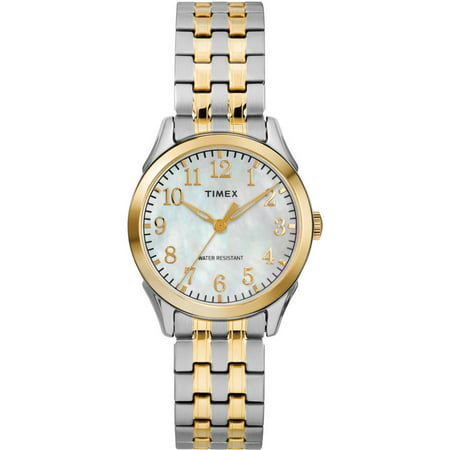 Timex Womens Briarwood Two Tone Mop Watch  Stainless Steel Expansion Band