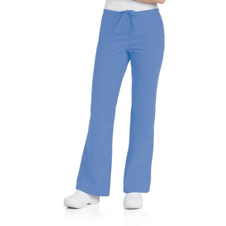 Landau Women's Natural Flare Leg Scrub Pant, Style (Everyday Ladies Flare Scrub Pant)