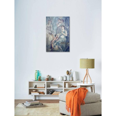 Best Italy, Naples, Naples Museum, Pompeii, House of L. Cornelius (VII 12, 26), Artemide and Calisto Stretched Canvas Print Wall Art By Samuel Magal deal