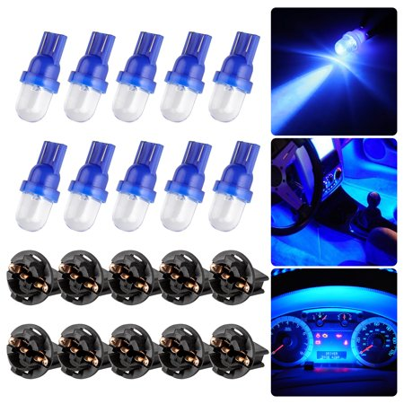 EEEkit 10pcs Blue Canbus Error Free 168 194 3528 SMD Chips Instrument Panel Led Light Gauge Cluster Dash Indicator Bulbs with Twist