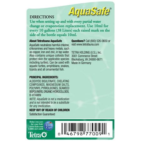 Tetrafauna Aquasafe Water Conditioner For Reptiles Amphibians