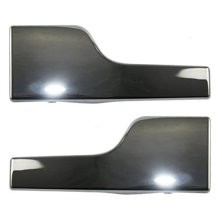 Door Handle Chrome Set - Pair Set Inside Interior Inner Chrome Door Handles Replacement for Lincoln Navigator 6L7Z78431B15C 6L7Z78431B14C