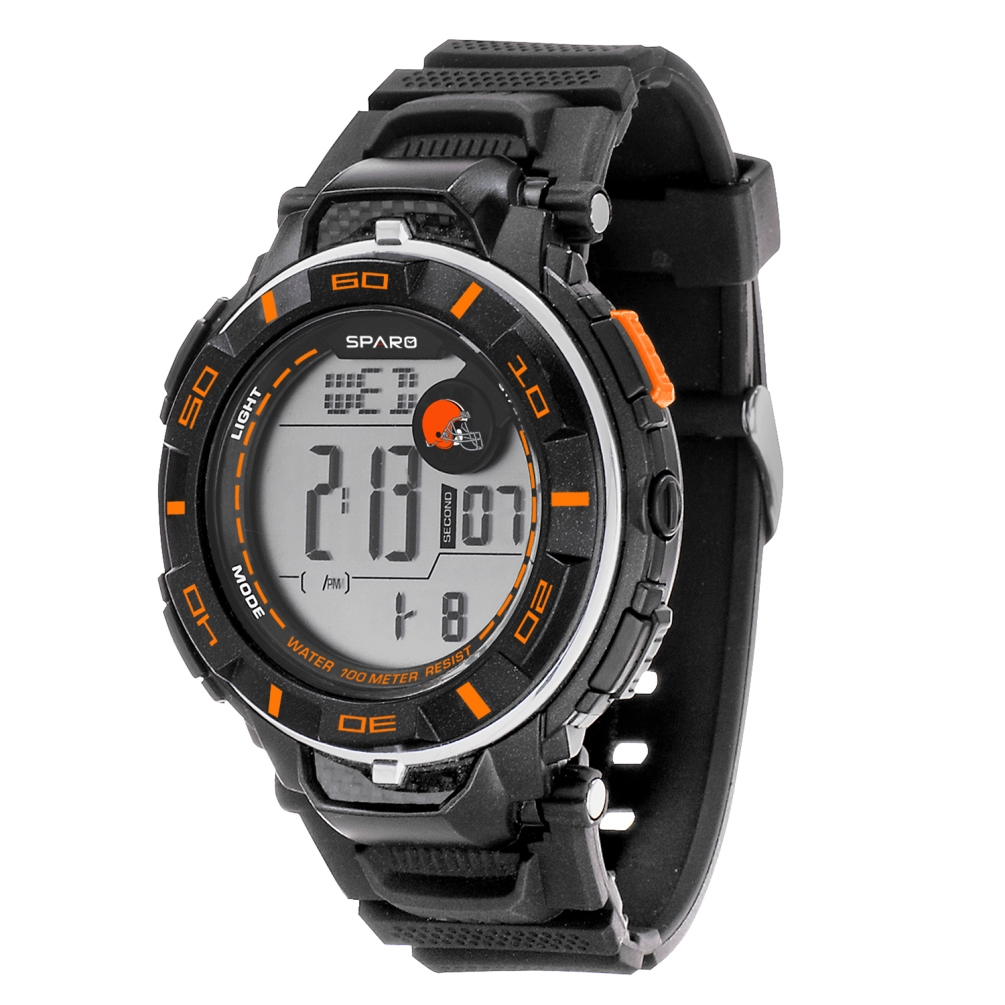 Cleveland Browns NFL Watch with Digital Readout