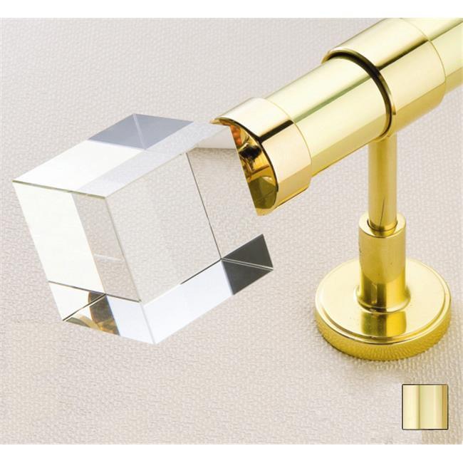 WinarT USA 8. 1049. 30. 04. 400 Febris 1049 Curtain Rod Set - 1. 25 inch - Polished Brass - 157 inch