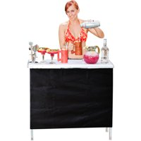 GoPong Foldable High Top Pop-up Party Bar, Includes 3 Front Skirts and Portable Carrying Case