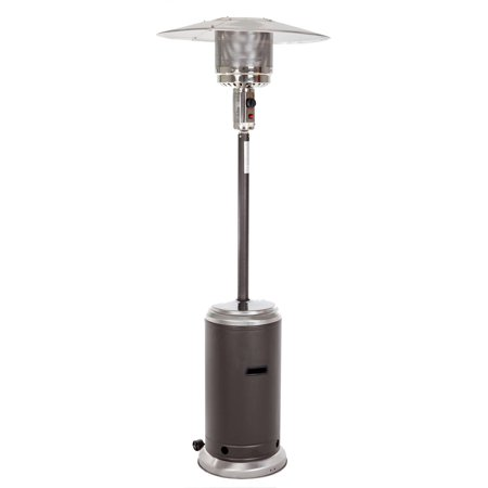 Fire Sense Mocha and Stainless Steel Standard Series Patio Heater ()