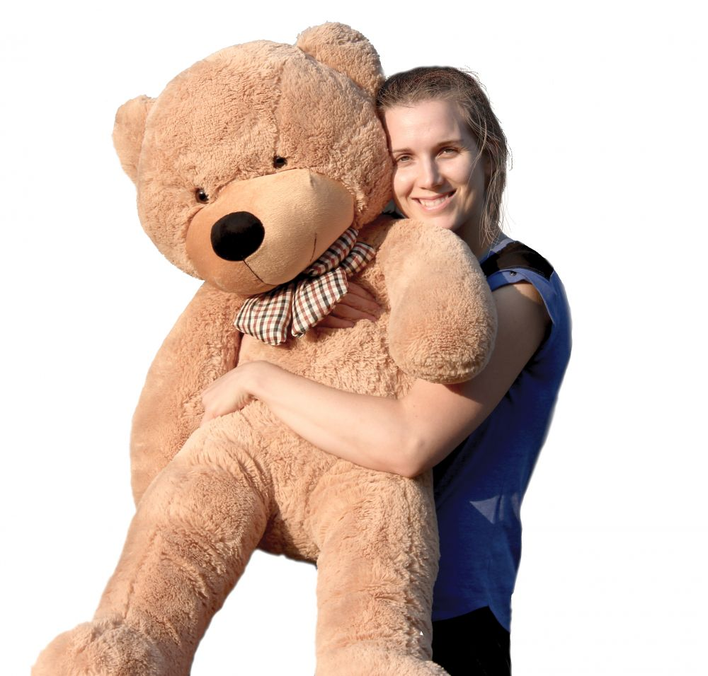 Joyfay Giant Teddy Bear, Light Brown- Nearly 4ft Teddy Bear (47in) Stuffed Big Teddy Bear,... by