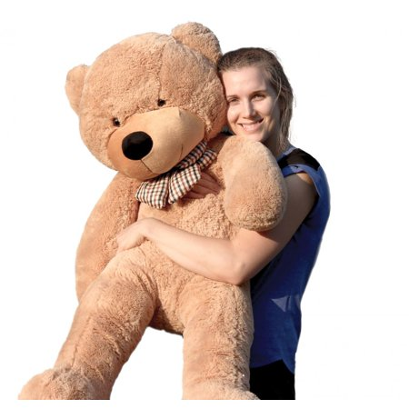 Joyfay Giant Teddy Bear, Light Brown- Nearly 4ft Teddy Bear (47in) Stuffed Big Teddy Bear, Great for Christmas or Valentines - Cheap Big Teddy Bears