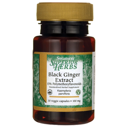 Swanson Black Ginger Extract 100 mg 30 Veg Caps Votivo Black Ginger