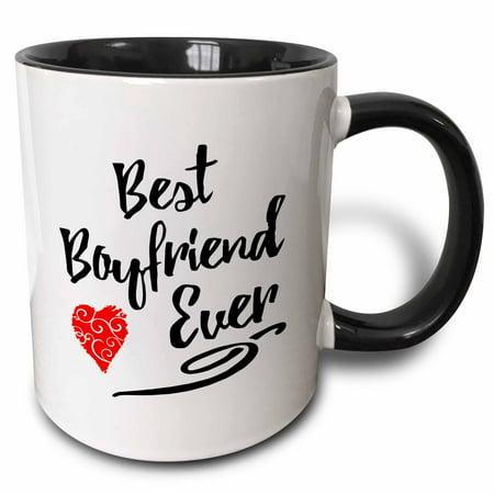3dRose Best Boyfriend Ever Design - Two Tone Black Mug,