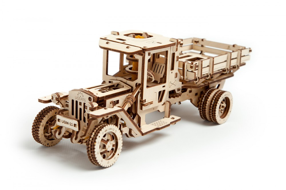 Ugears UGM 11 Truck Mechanical 3D Puzzle Best Eco-Friendly Wooden Gift Set for Kids and Adults by UGEARS