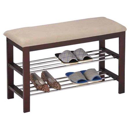 Inroom designs shoe rack bedroom hallway bench for Rack design for bedroom