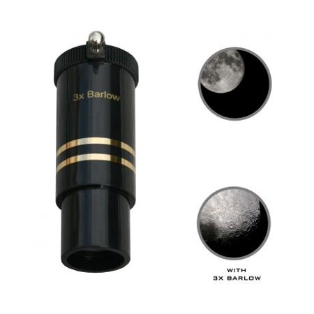 Cassini 3x Barlow Coated Telescope Lens, Black, 1.25in (Telescope Barlow Lens)