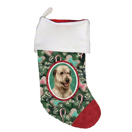 Irish Wolfhound Wheaten -  Best of Breed Dog Breed Christmas Stocking