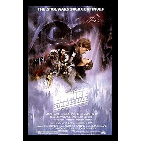 Framed Star Wars The Empire Strikes Back 34X22 Movie Art Print Poster Harrison Ford Mark Hamill Carrie Fisher Billy Dee Williams George Lucas