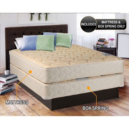 Chiro Premier Orthopedic Medium Firm  Beige  Queen Size  60  X80  X9    Mattress And Box Spring Set   Fully Assembled  Good For Your Back  High Quality  Long Lasting And 2 Sided By Dream Solutions Usa